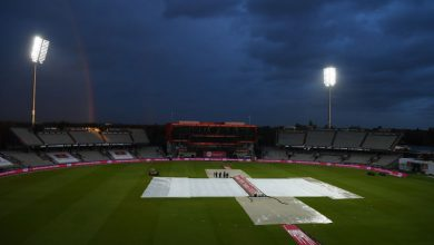 Photo of Rain disrupting 1st T20 for Pakistan and England in Manchester