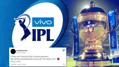 Photo of Indian Fans oppose Chinese Sponsor 'Vivo', #BoycottIPL trends on Twitter