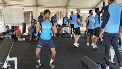 Photo of Indian team enjoys first outdoor, gym session in Australia